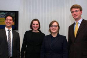 2012: (f.l.t.r.) Eric Mathur, Julia Nora Standke, Elisabeth Opfermann and Lukas Lingenthal