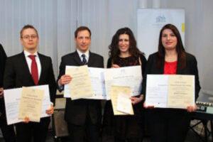 2013: (f.l.t.r.) Jani Ringborg, Volker Hümpfner, Eline Lampropoulou and Aikaterini Georgiou