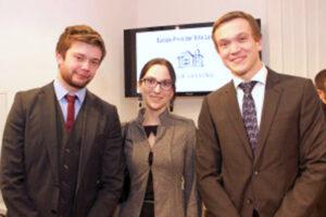 2014: (f.l.t.r.) Darren Harvey, Vesna Tisler and Sebastian Lobner