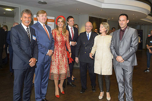 The Dutch royal couple visited the Saarland University