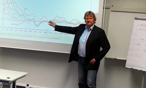 "We thank Prof. Belke for his class ""Economics and Finance"""
