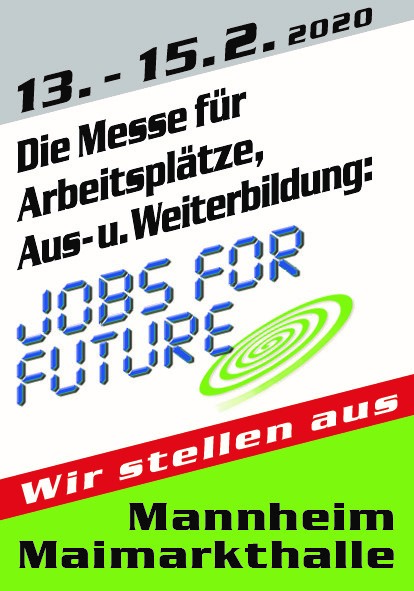 "Meet us at ""Jobs for Future"", stand no 720"