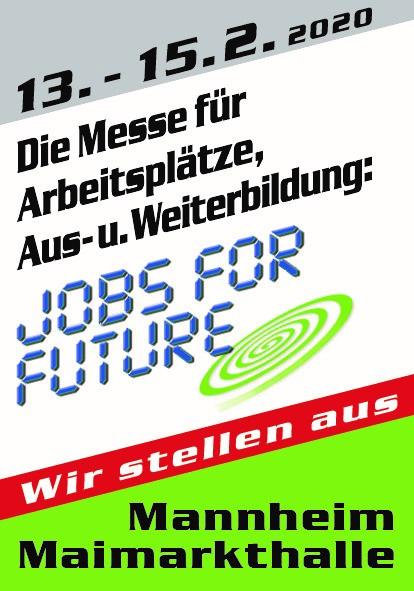 """Treffen Sie uns auf der """"Jobs for Future"""", Stand Nr. 720"""
