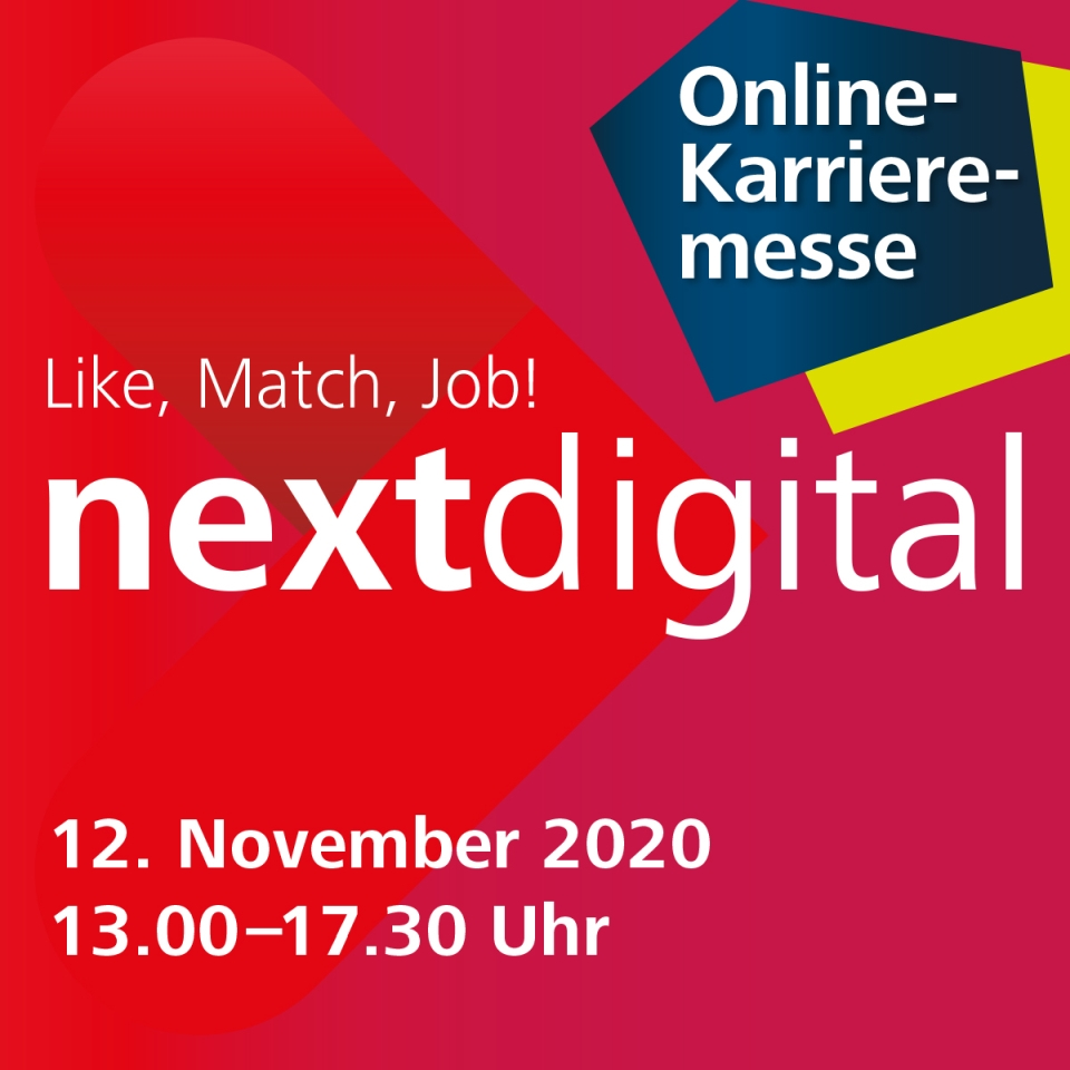 We are there! Next digital – Online career fair of Saarland University