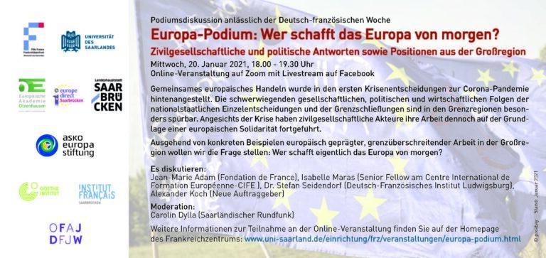 Europa-Podium: Wer schafft das Europa von morgen?