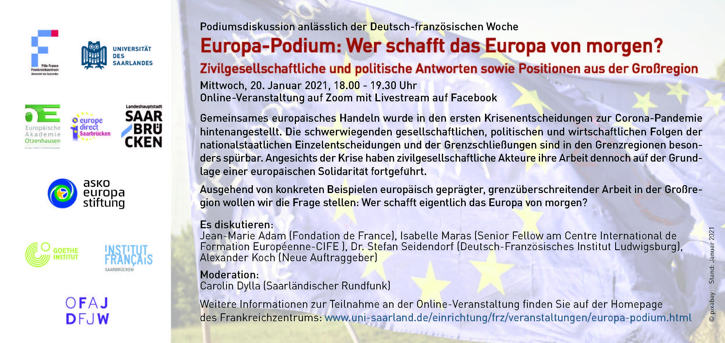European Panel: Who will create the Europe of tomorrow ?