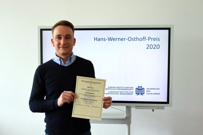 Hans-Werner-Osthoff-Preis 2020