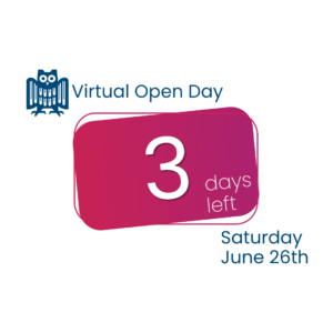 Read more about the article Only 3 Days to the Online Open Day !