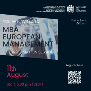 Read more about the article REMINDER – Information Event on 11th August 2021