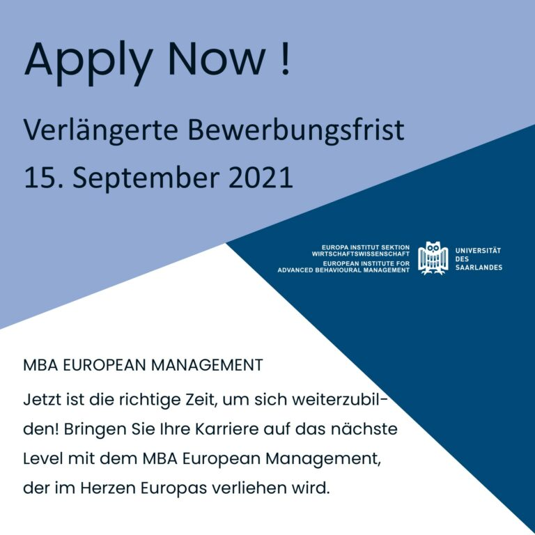 Read more about the article Extended application deadline !